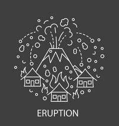 eruption natural disaster vector image