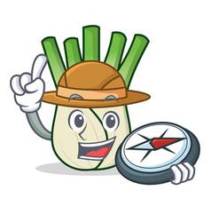 Explorer fennel mascot cartoon style vector