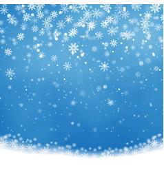 falling christmas shining transparent beautiful s vector image