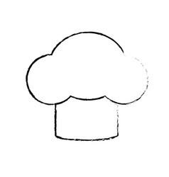 Figure hat chef kitchen utensil to cuisine vector