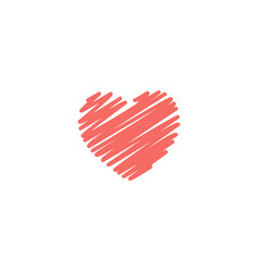 grunge striped heart icon for vector image