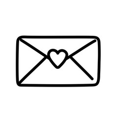 happy valentines day mail envelope letter card vector image