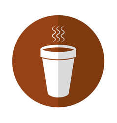 Hot coffe cup vector