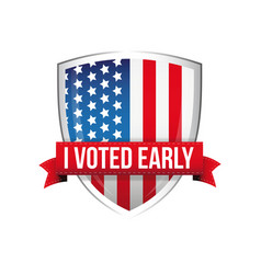 i voted early united states flag button vector image