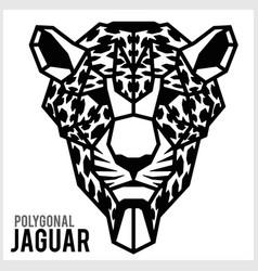 Jaguar head in polygonal style polygonal animals vector