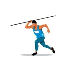 Javelin Thrower sign vector