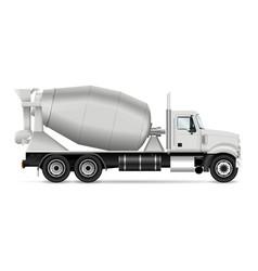 Mixer truck vector