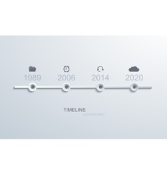 Modern timeline infographic vector