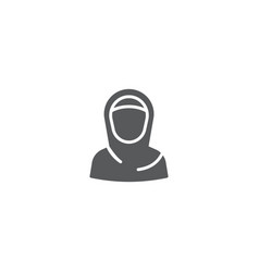 Muslim woman icon symbol isolated on white vector