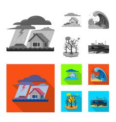 natural and disaster logo vector image