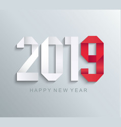 New 2019 year paper greeting card vector