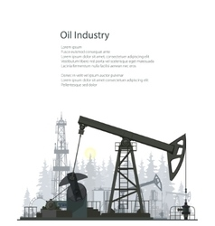 Oil Pump Isolated on White Background vector image
