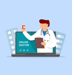online medical services medical consultation vector image
