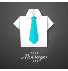 Origami shirt with tie vector