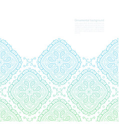 Ornate background with copy space green-blue vector