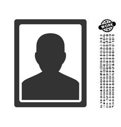 Patient portrait icon with professional bonus vector