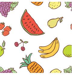 pattern various fruit vector image