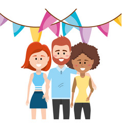 People party cartoons vector