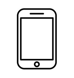phone line icon linear symbol vector image