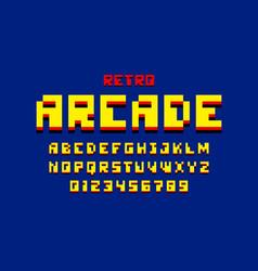pixel retro arcade game style 80s font vector image