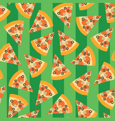 pizza slice seamless pattern background vector image