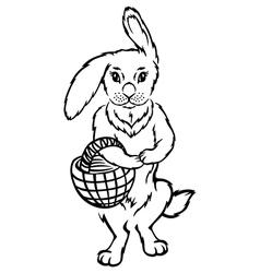 Rabbit basket vector