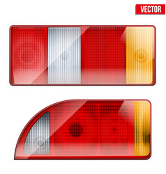 Rectangular car taillight Vintage vector