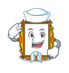 Sailor picture frame character cartoon vector