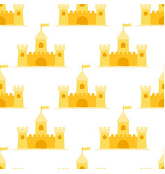 sand castle seamless pattern vector image