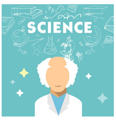 science scientist science equipment blue backgroun vector image