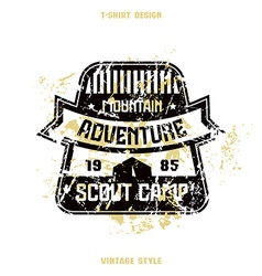 Scout camp badge striped vector