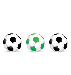 set of colored soccer balls vector image