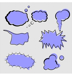 set of speech and thought elements vector image