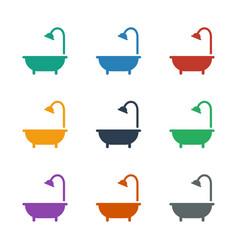 Shower icon white background vector