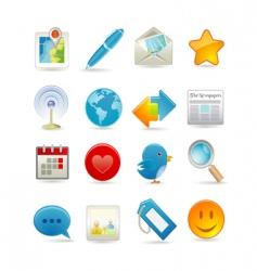 Social media set vector