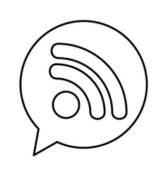 Speech bubble with wifi signal connection icon vector