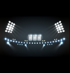 Stadium lights composition vector
