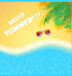 summer beach sea background vector image