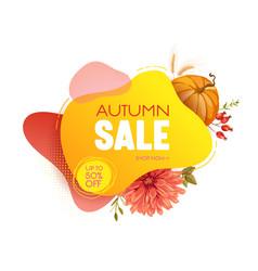thanksgiving sale web banner autumn seasonal vector image