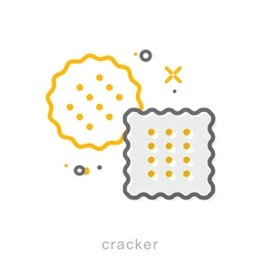 Thin line icons Cracker vector image