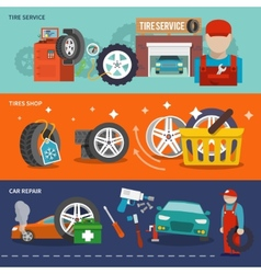 Tire banner set vector image