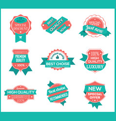 top pr marketing labels set 8 vector image