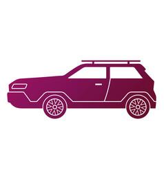 traveling car caravaning tourism modern big vector image