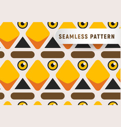 triangular head birds seamless pattern cartoon vector image