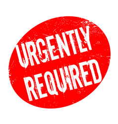 Urgently required rubber stamp vector