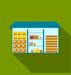 warehouse icon of for web and vector image