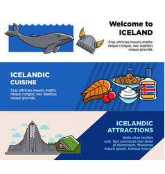 Welcome to iceland icelandic cuisine and vector