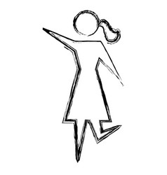women pictogram symbol vector image