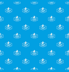 zombie pattern seamless blue vector image