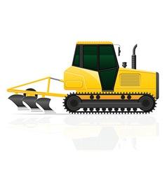 Caterpillar tractor 03 vector